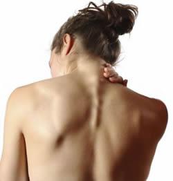 Benauwdheid en pijn tussen schouderbladen